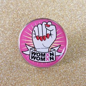 🎃 {10/$25} womxn feminist themed pin